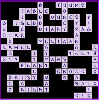 crossword answers | binstastic.com